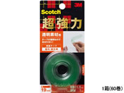 3M スコッチ 超強力両面テープ 透明素材用 19mm*1.5m 60巻