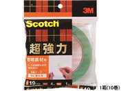 3M スコッチ 超強力両面テープ 透明素材用 19mm*4m 10巻