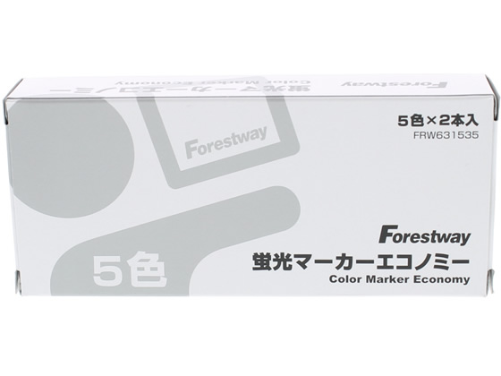 Forestway 蛍光マーカーエコノミー 5色*2 10本 FRW631535