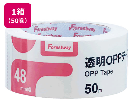 Forestway 透明OPPテープ 48mm×50m 50巻